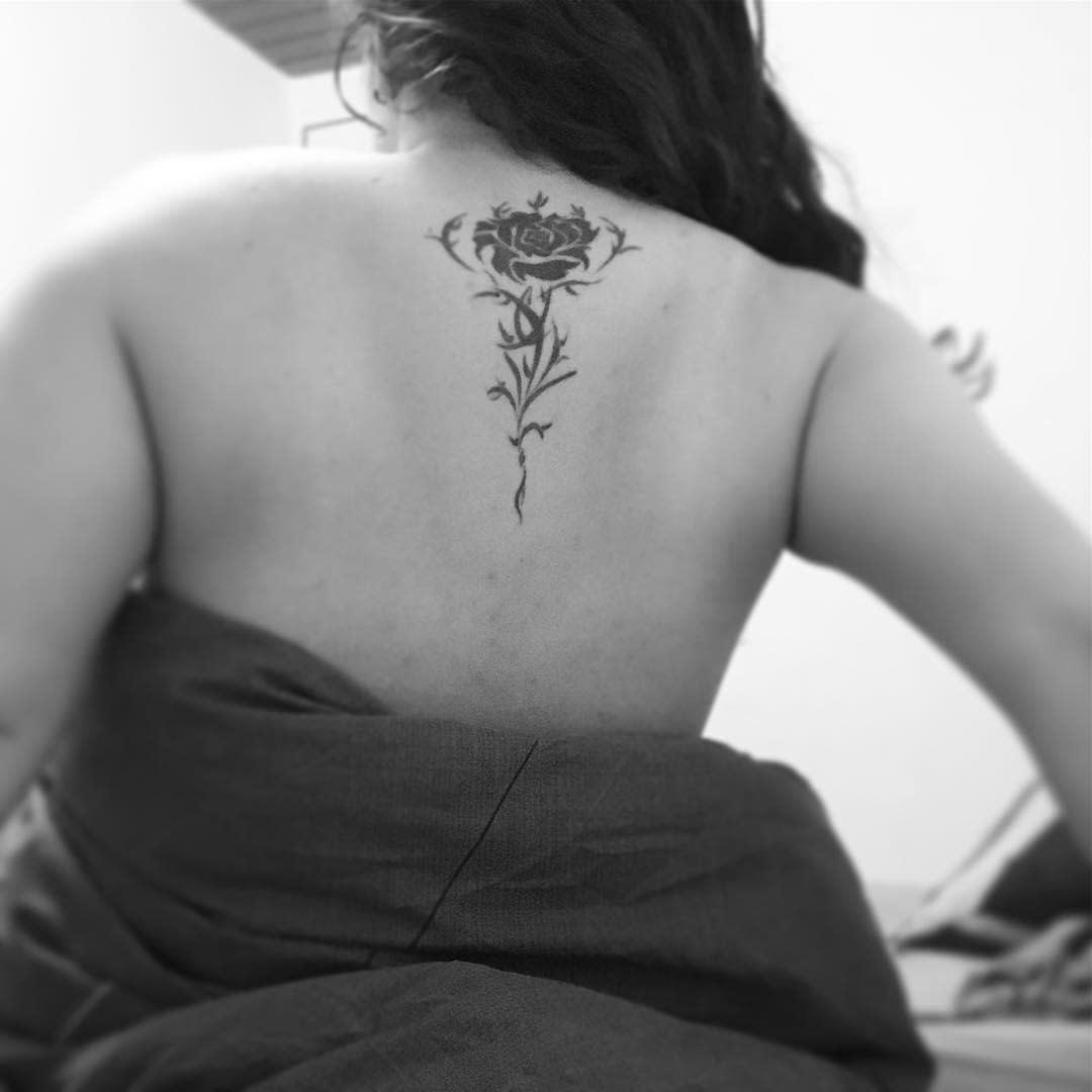 back tribal rose tattoos rakgar7