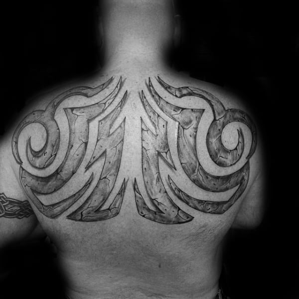 Back Tribal Tattoos For Guys