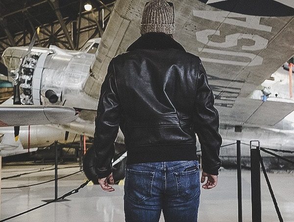 Back View Mens Removeable Genuine Fur Collar Cockpit Usa G 1 Flight Jacket Review
