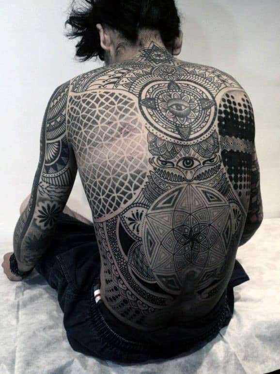 Back Wing Tattoos For Men