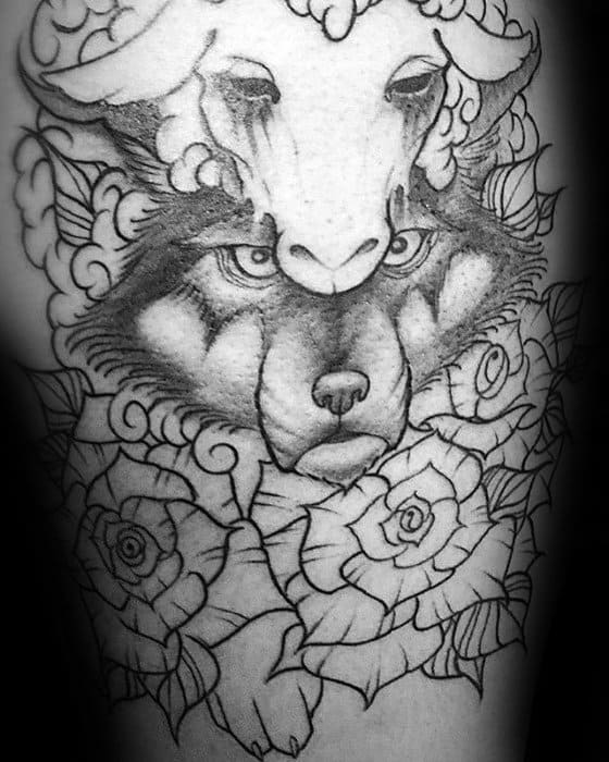 Back Wolf In Sheeps Clothing Guys Tattoo Ideas