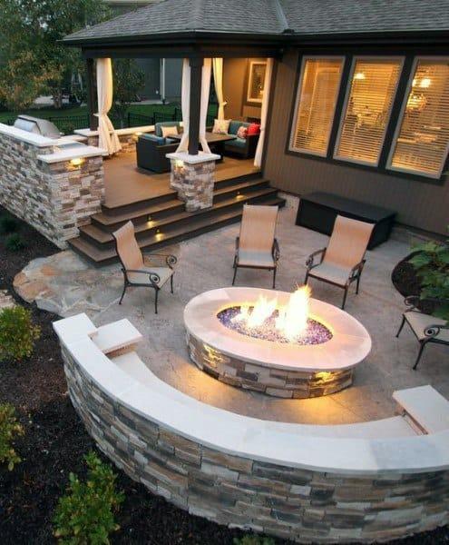 Top 60 Best Outdoor Patio Ideas Backyard Lounge Designs