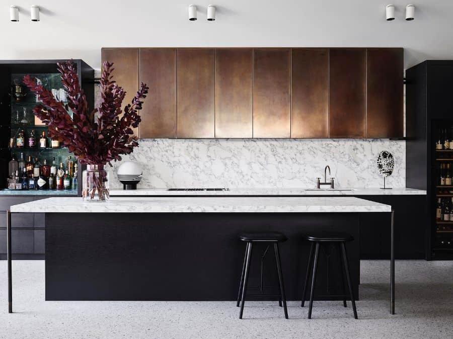 Backsplash Ideas Black And White Kitchen Cosinteriors