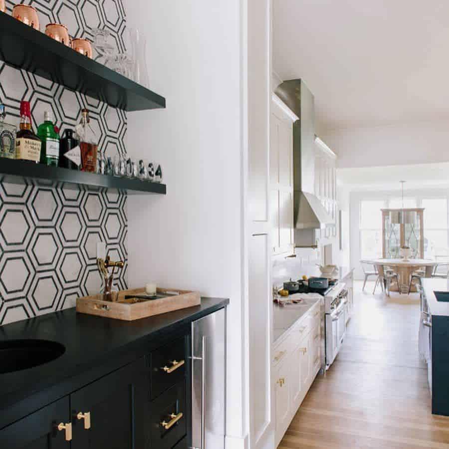 Backsplash Ideas Black And White Kitchen Jldesigntn
