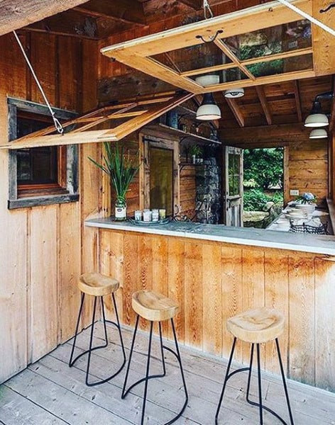 50 Pub Shed Bar Ideas For Men - Cool Backyard Retreat Designs on Small Backyard Bar Ideas id=28930