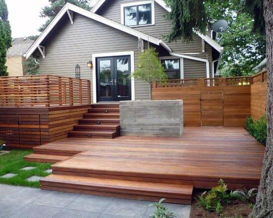 Backyard Deck Construction