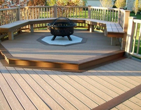 Backyard Designs Deck Fire Pit With Seating