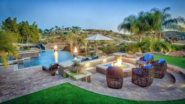 Top 60 Best Outdoor Fire Pit Seating Ideas - Backyard Designs on Best Backyard Designs id=90881