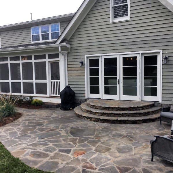 Backyard Designs For Flagstone Patio