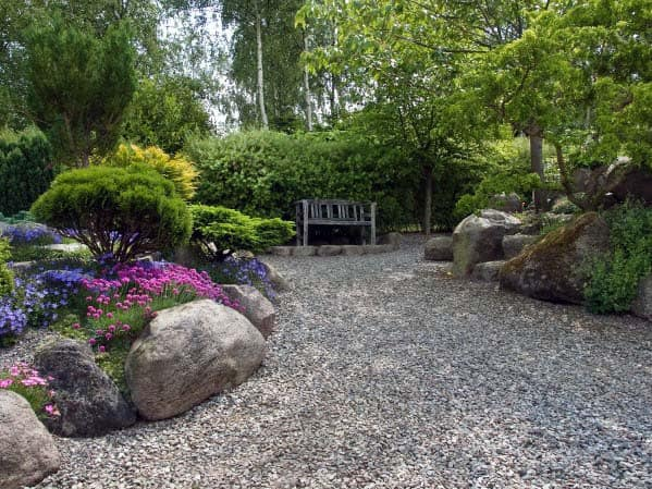 Top 60 Best Gravel Landscaping Ideas - Pebble Designs on Backyard Pebbles Design id=57245