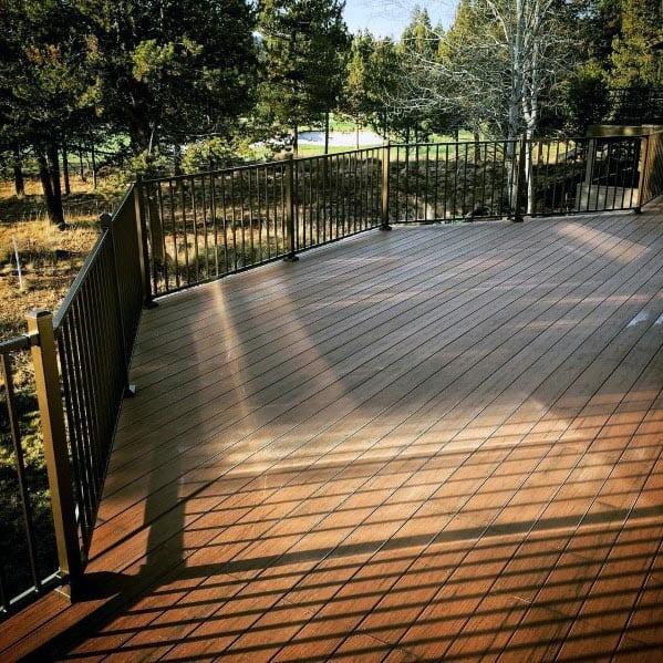 Backyard Designs Metal Wood Composite Deck Railing