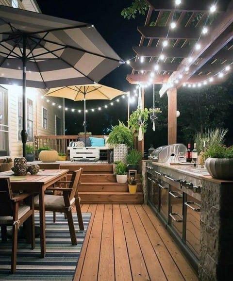 Top 40 Best Patio String Light Ideas - Outdoor Lighting ... on Deck String Lights Ideas id=86216