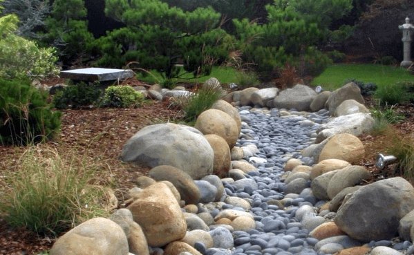 Backyard Exterior Designs River Rock Landscaping