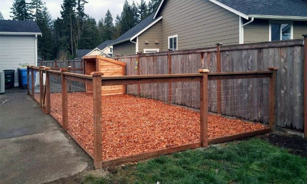 Backyard Fenced In Dog Area Ideas