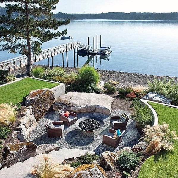Backyard Fire Pit Ideas For Gravel Patio