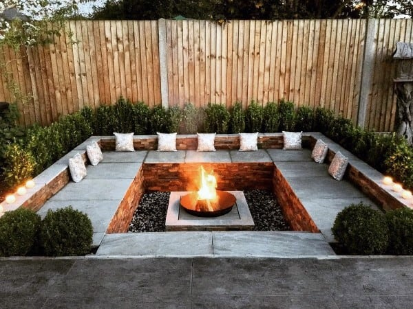Backyard Landscaping With Fire Pit top 60 best fire pit ideas - heated backyard retreat designs