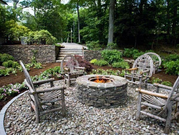 Top 50 Best Fire Pit Landscaping Ideas - Backyard Designs on Garden Ideas With Fire Pit id=33782