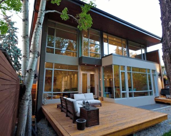 Backyard Floating Wood Deck Ideas