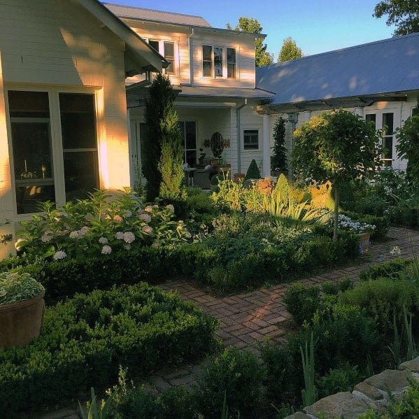 Backyard Garden Ideas Brick Walkway