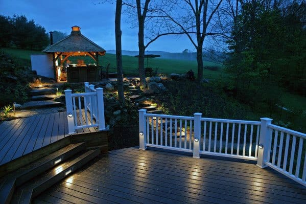 Backyard Idea Inspiration Deck Lighting Designs