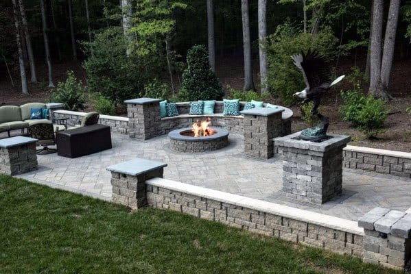 Top 60 Best Paver Patio Ideas - Backyard Dreamscape Designs on Small Backyard Brick Patio Ideas id=82077