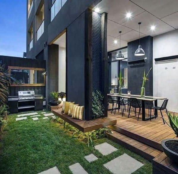 Backyard Ideas For Floating Deck Modern Designs