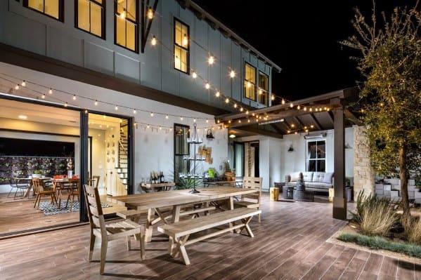 Top 40 Best Patio String Light Ideas - Outdoor Lighting ... on Deck String Lights Ideas id=46326