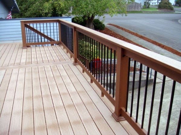 Backyard Ideas For Wood And Metal Deck Railing