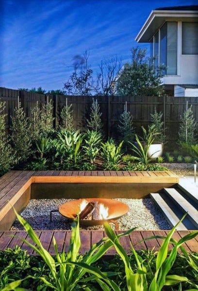 Backyard Ideas Modern Deck With Firepit