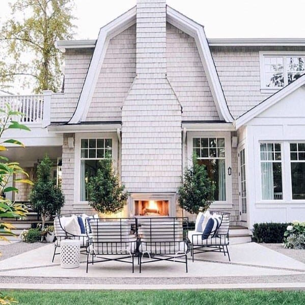Surprising Top 60 Best Patio Fireplace Ideas Backyard Living Space Squirreltailoven Fun Painted Chair Ideas Images Squirreltailovenorg