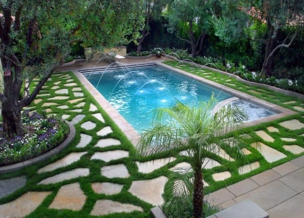 Top 40 Best Pool Landscaping Ideas - Aesthetic Outdoor ...