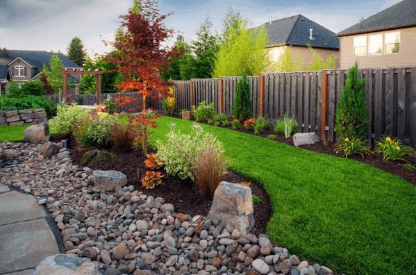 Backyard Ideas River Rock Landscaping