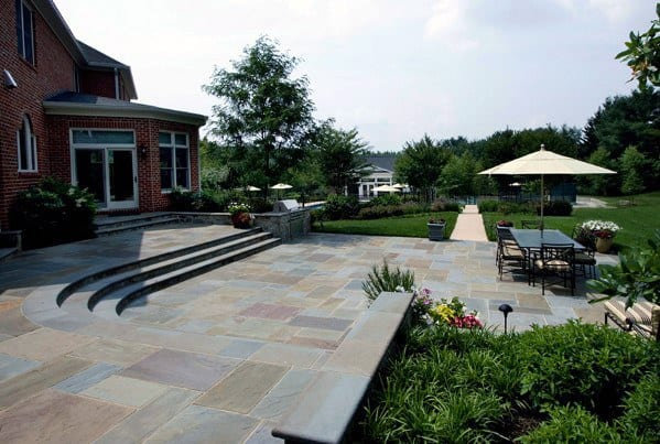 Top 60 Best Flagstone Patio Ideas - Hardscape Designs on Small Backyard Stone Patio Ideas id=58109