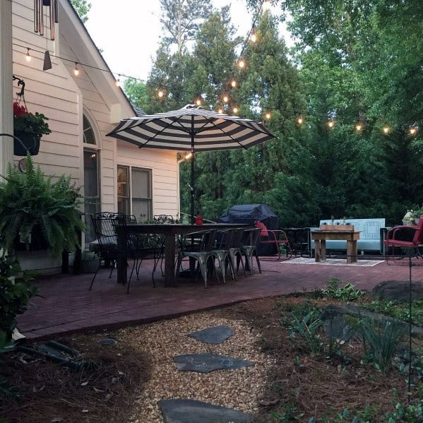 Backyard Inspiration Designs Brick Patio