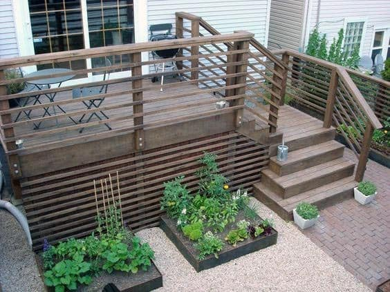 Backyard Modern Designs Deck Skirting