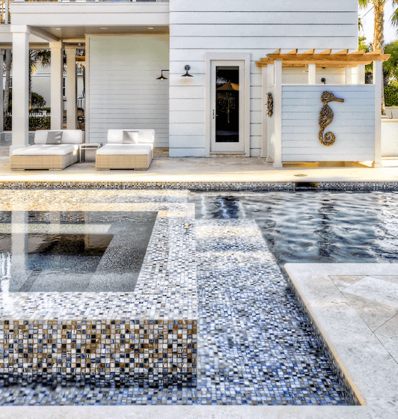 Backyard Mosaic Designs Pool Tiles