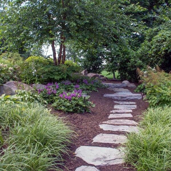 Backyard Path Stone Walkway Design Inspiration