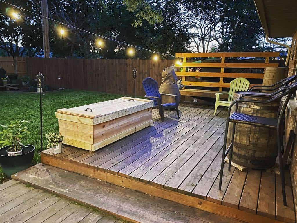 backyard patio deck ideas lauralovesbooksandcats