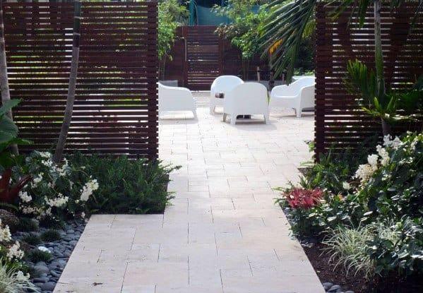 Backyard Patio Designs For Modern Fence
