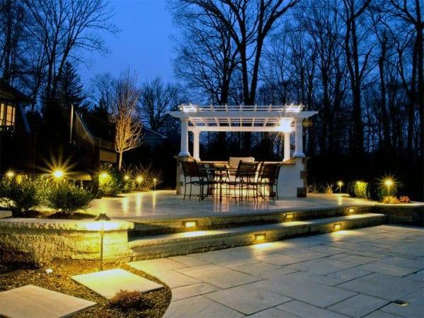 Backyard Patio Landscaping Lighting Ideas