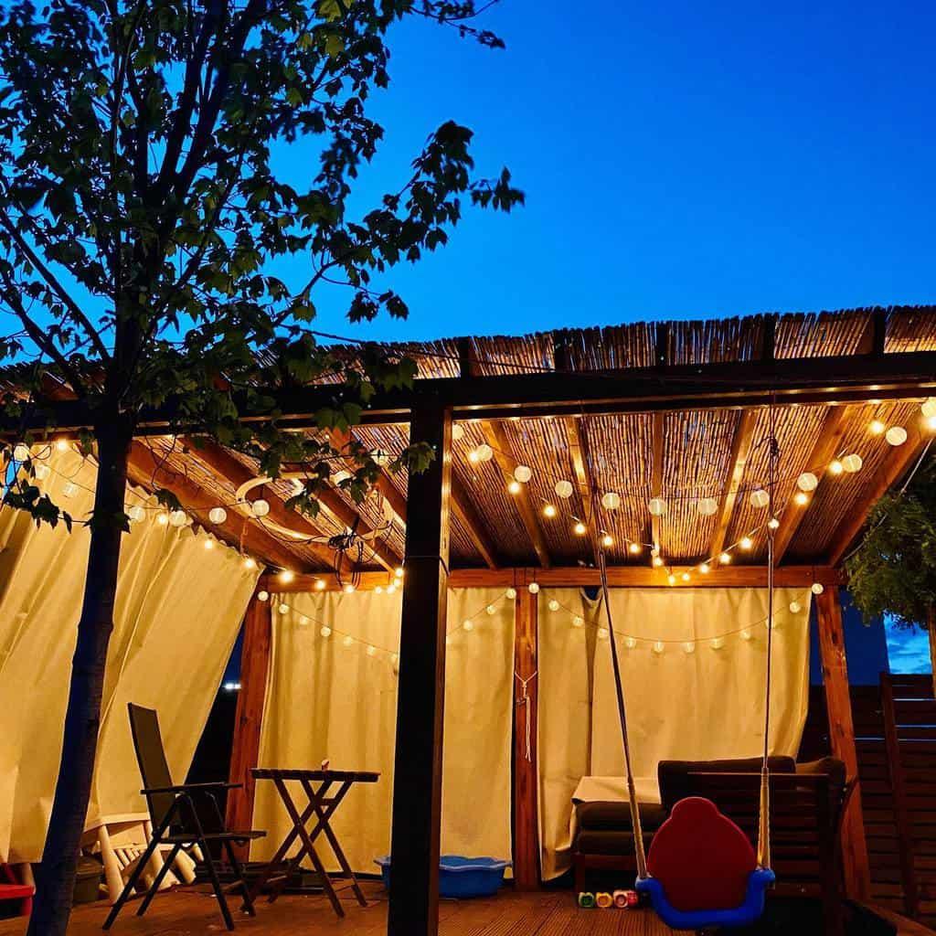backyard patio lighting ideas makeitmemorable.ro