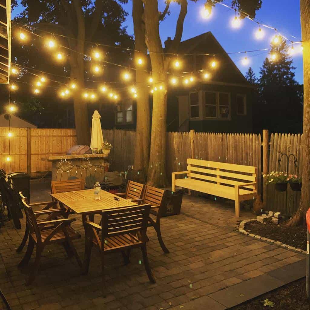 backyard patio lighting ideas motheringinchaos