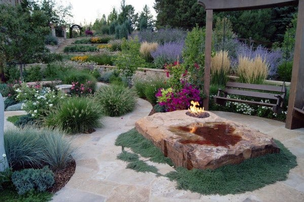 Backyard Patio Slope Landscaping Design Idea Inspiration
