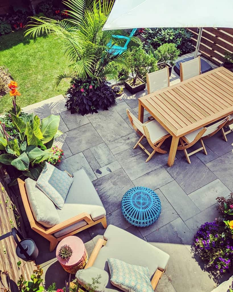 backyard patio small backyard ideas earthandsole