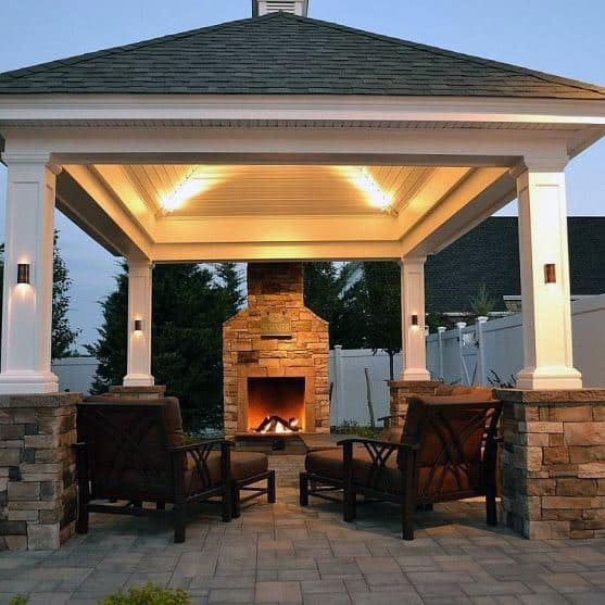 Backyard Pavilion Lighting Ideas