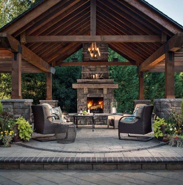 Covered Backyard Space Designs: Top 50 Best Backyard Pavilion Ideas