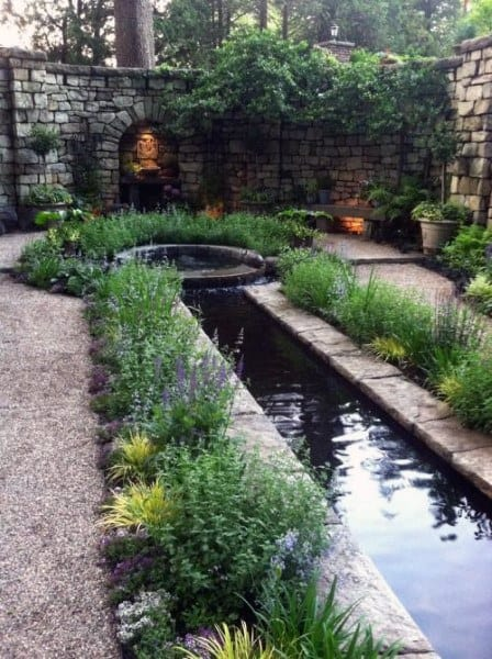 Top 50 best backyard pond ideas outdoor water feature for Garden pond design