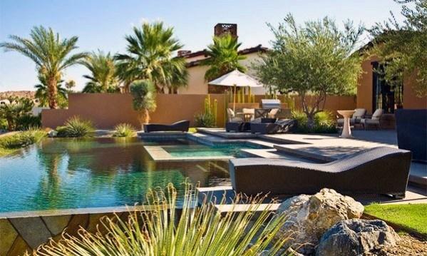 Backyard Pool Desert Landscaping Cool Exterior Ideas