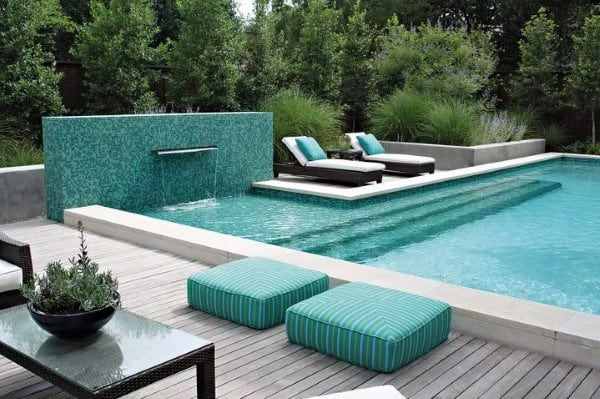 Backyard Pool Design With Waterfall