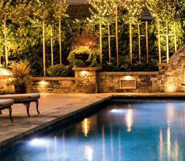Backyard Pool Landscaping Lighting Ideas